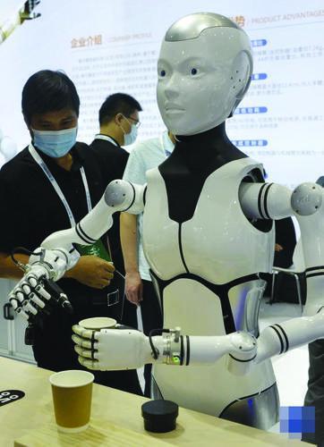 2021년 세계 로보트대회에 전시된 생활응용 지능로보트