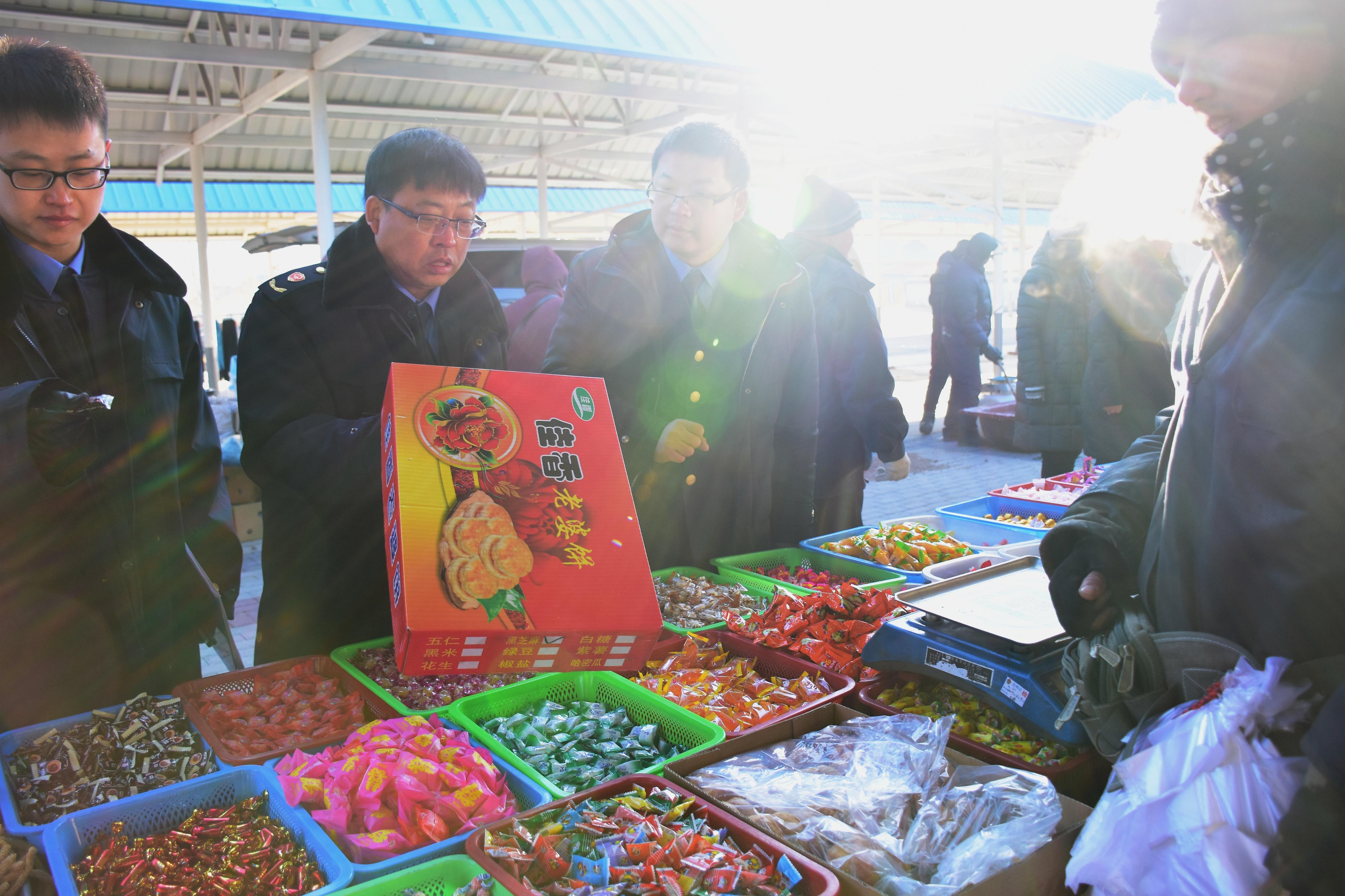 연길시시장및질량감독관리국, 농촌장날 전문검사를 펼쳐