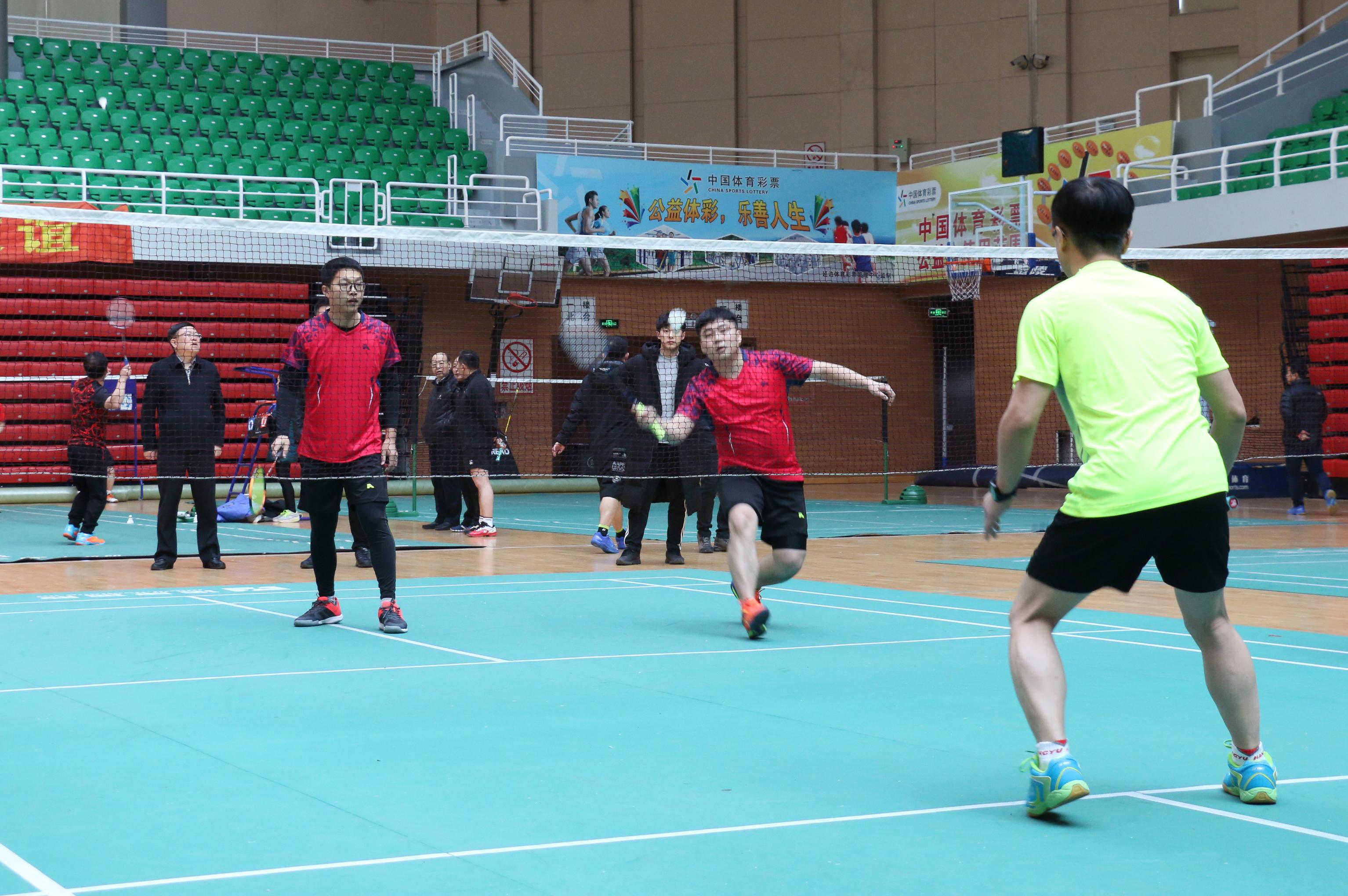 주경기대회 사업일군바드민톤경기 성황리 개막