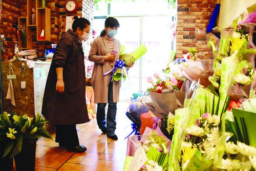 문명제사 제창으로 꽃가게 판매량 늘어